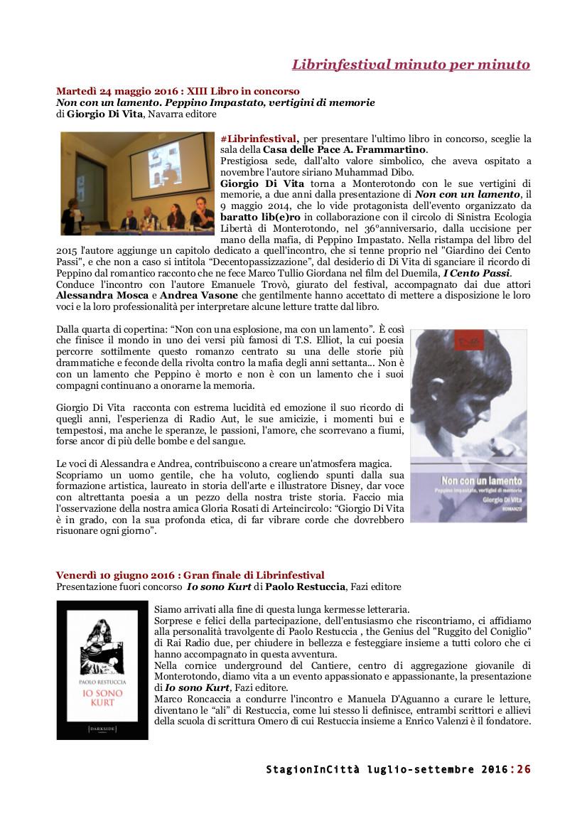 #Librinfestival, StagionInCittà, #mestierelibro