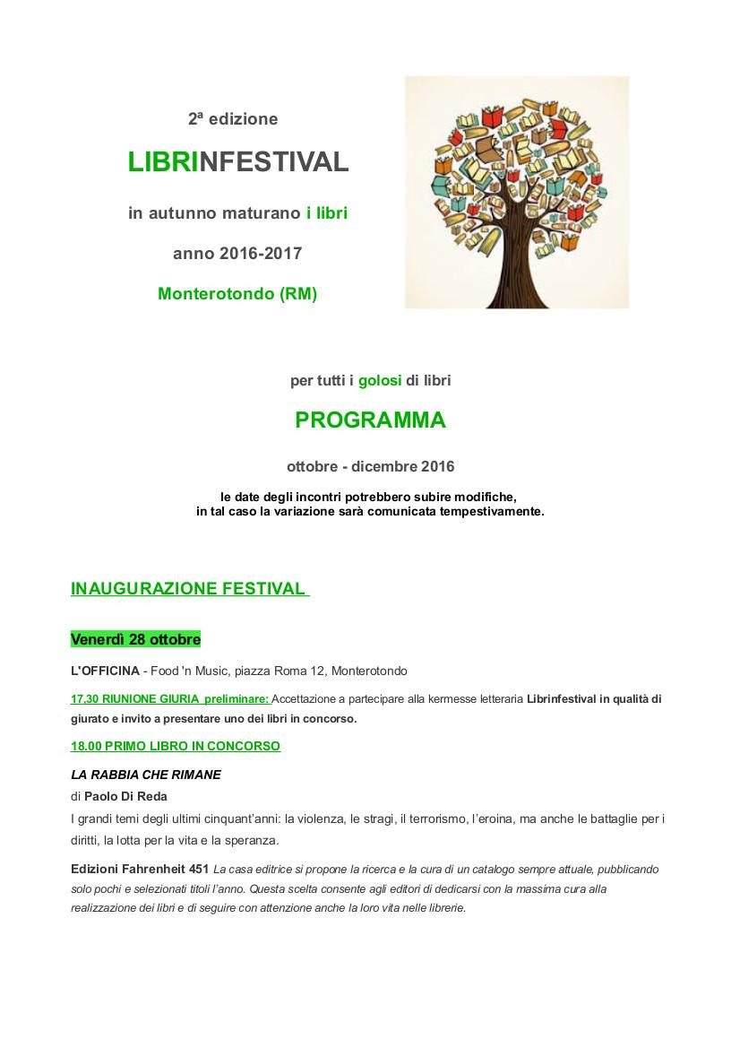 programma II edizione Librinfestival