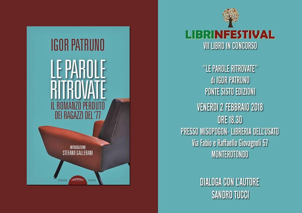 Igor Patruno, Le parole ritrovate, Edizioni Ponte Sisto