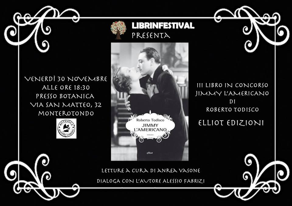 Jimmy l'americano, Roberto Todisco, Elliot Edizioni, #Librinfestival