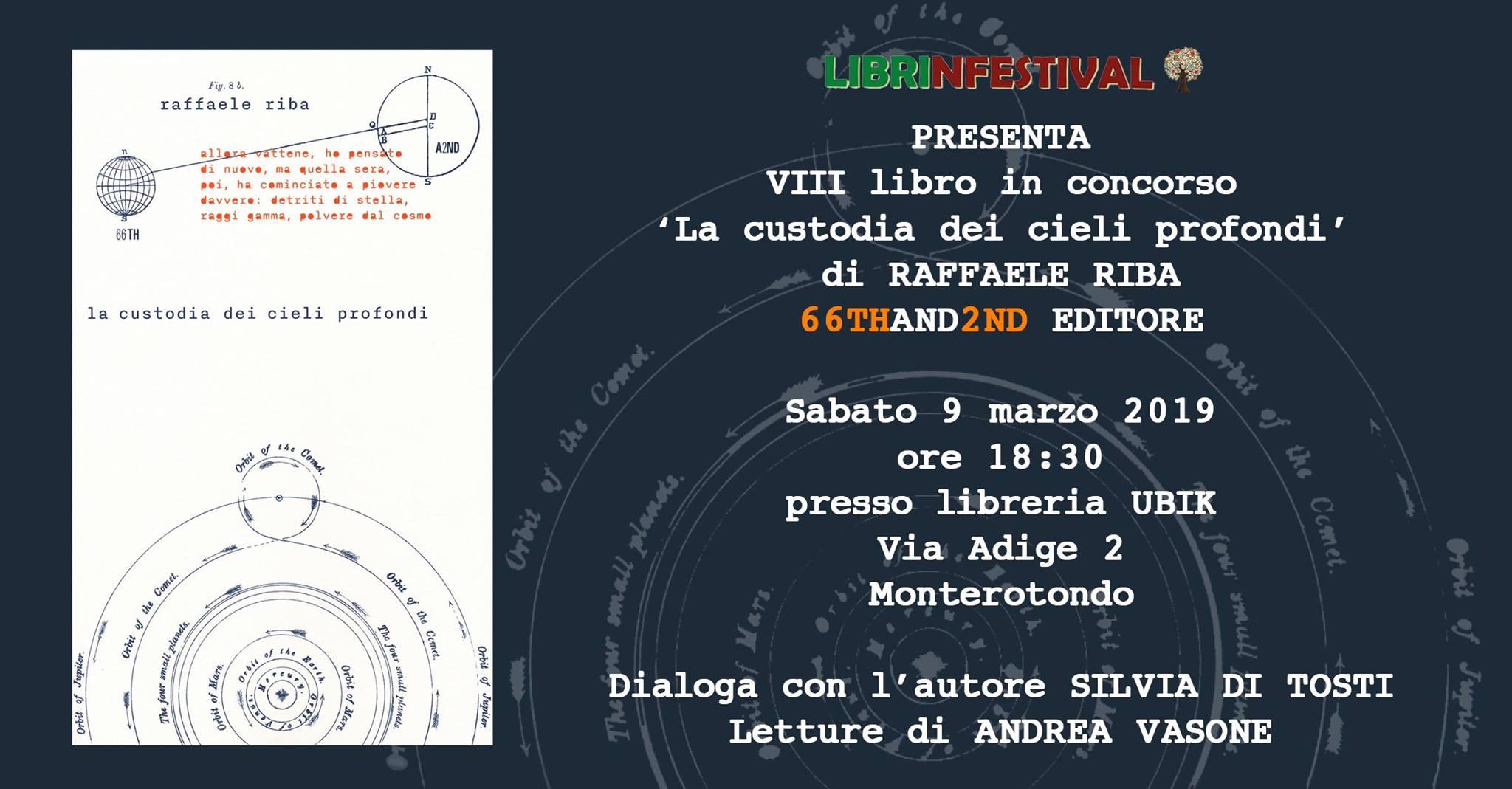 La custodia dei cilei profondi, Raffaele Riba, 66thand2nd,#Librinfestival