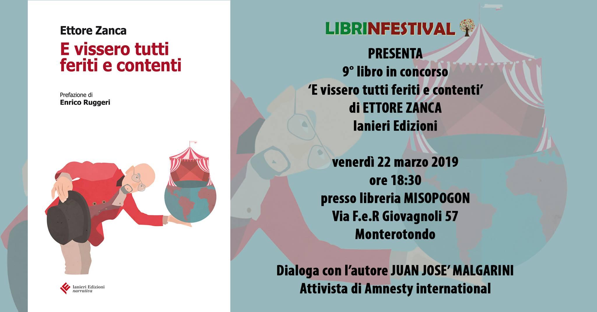 E vissero tutti feriti e contenti, Ettore Zanca, Ianieri Edizioni,#Librinfestival. Libreria Misopogon, Juan José Malgarini