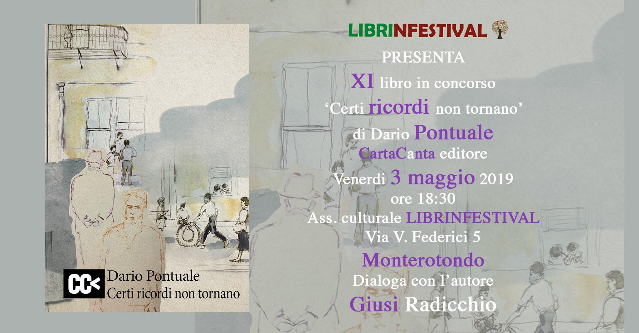 Dario Pontuale, Certi ricordi non tornano, Caratcanta Editore, #Librinfestival,
