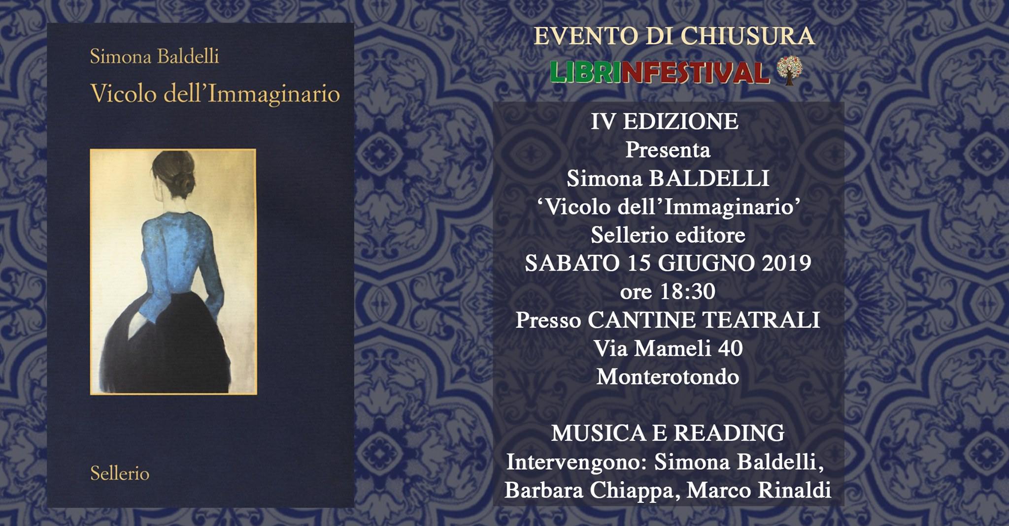 Simona Baldelli, Sellerio, #Librinfestival, Vicolo dell'immaginario