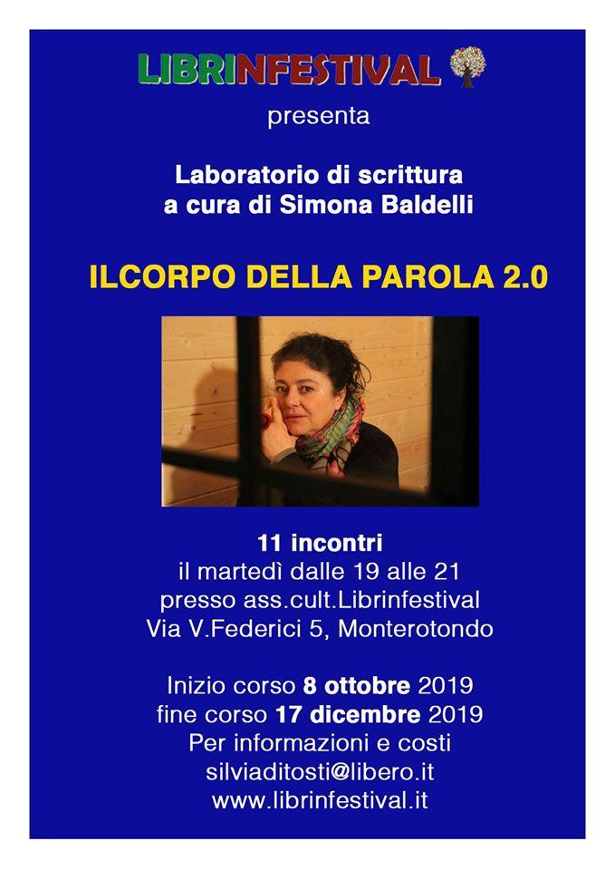 Simona Baldelli, laboratorio di scrittura, Il corpo della parola, #Librinfestival