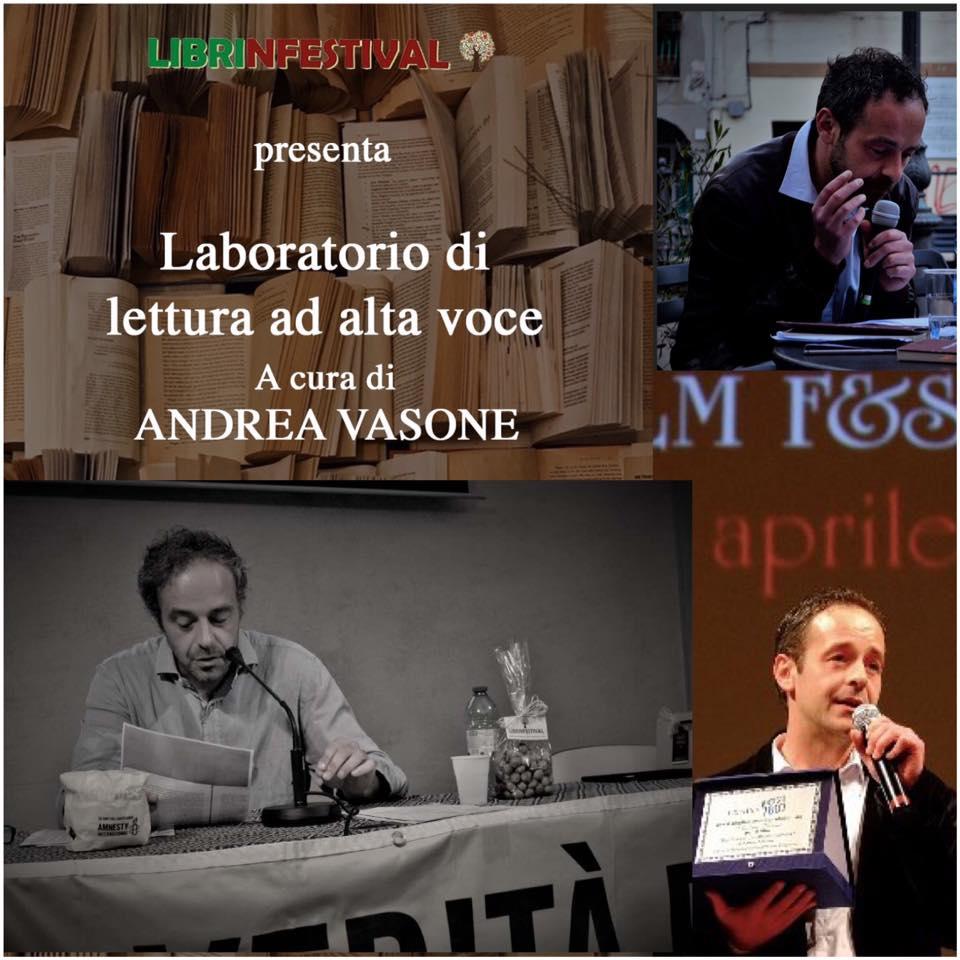 Andrea Vasone, Laboratorio di lettura espressiva, #Librinfestival