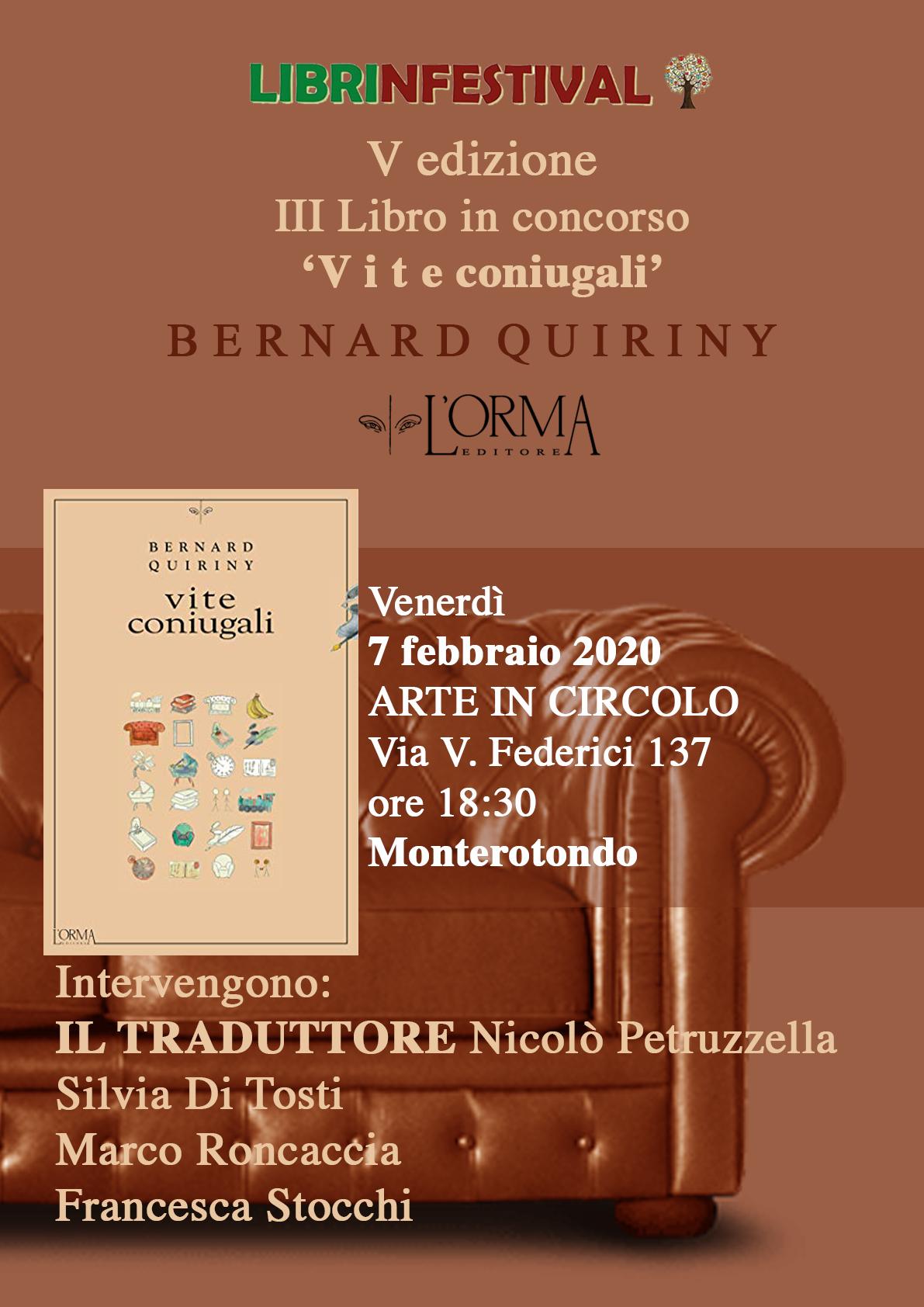 Vite coniugali, Bernard Quiriny, L'ORMA Editore, #Librinfestival, Nicolò Petruzzella e