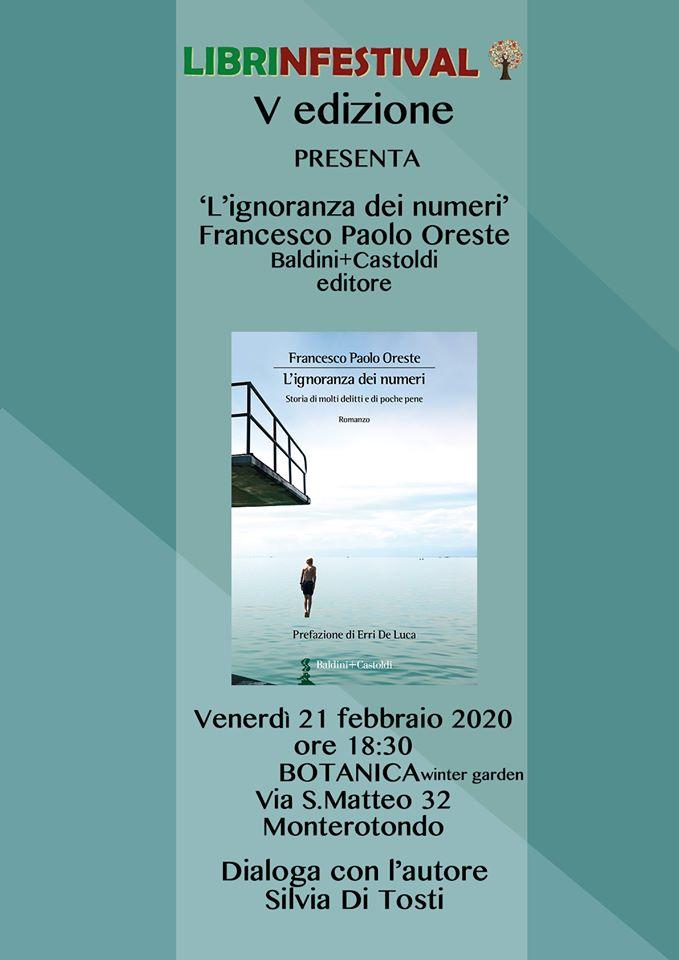 L'ignoranza dei numeri, Francesco Paolo Oreste, Erri De Luca, Baldini+Castoldi, #Librinfestival,