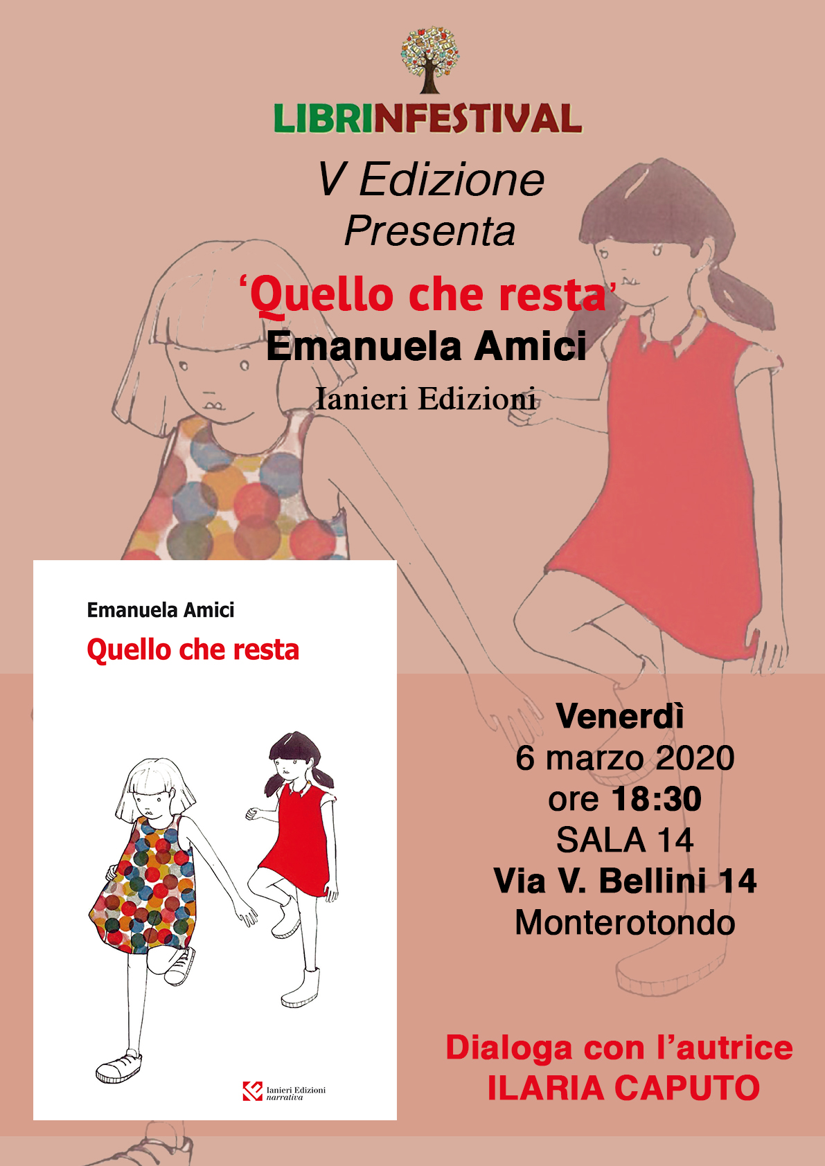 Quello che resta, Emanuela Amici, Ianieri Edizioni, #Librinfestival5edizione